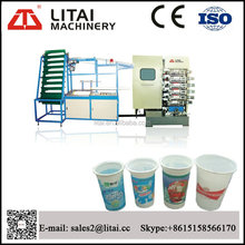 Six color good performance plastic cup paper coffee cup printing machine