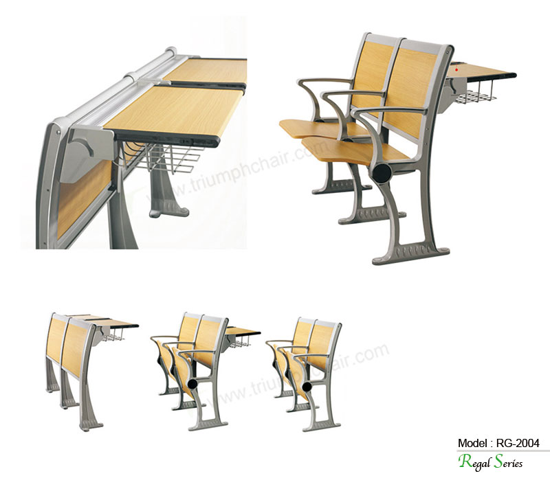 Triumph Modern University school desk and chair / lecture folding desk and chair