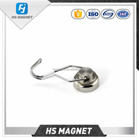 Customized Mounting Magnet Magnetic Pots with 360 degree Hook 25kg pulling Strong Lifting Magnet Neodymium Permanent Magnets