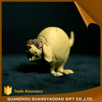 Eco-Friendly happy jumping dog miniature figurine table decoration