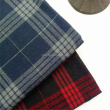 alibaba wholesale yarn dyed red black twill plaid school uniform material fabrics