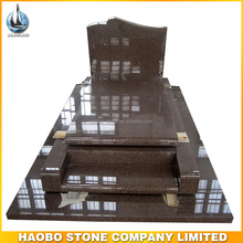 Haobo polished red granite tombstone for cemetery stones prices