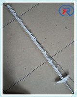 Plastic Post for Pasture Electric Fencing Step in Poly Post for Temp Fence Panels
