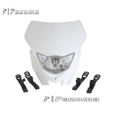 Motorcycle de la motocicleta Ghost faro Dirt Bike Head Lamp Color blanco apariencia pantalla