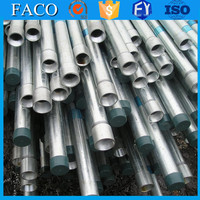 trade assurance supplier mild galvanized round steel tube 150mm galvanized tube distributor