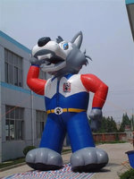 New 6 m giant inflatable animals,inflatable wolf balloon for advertising