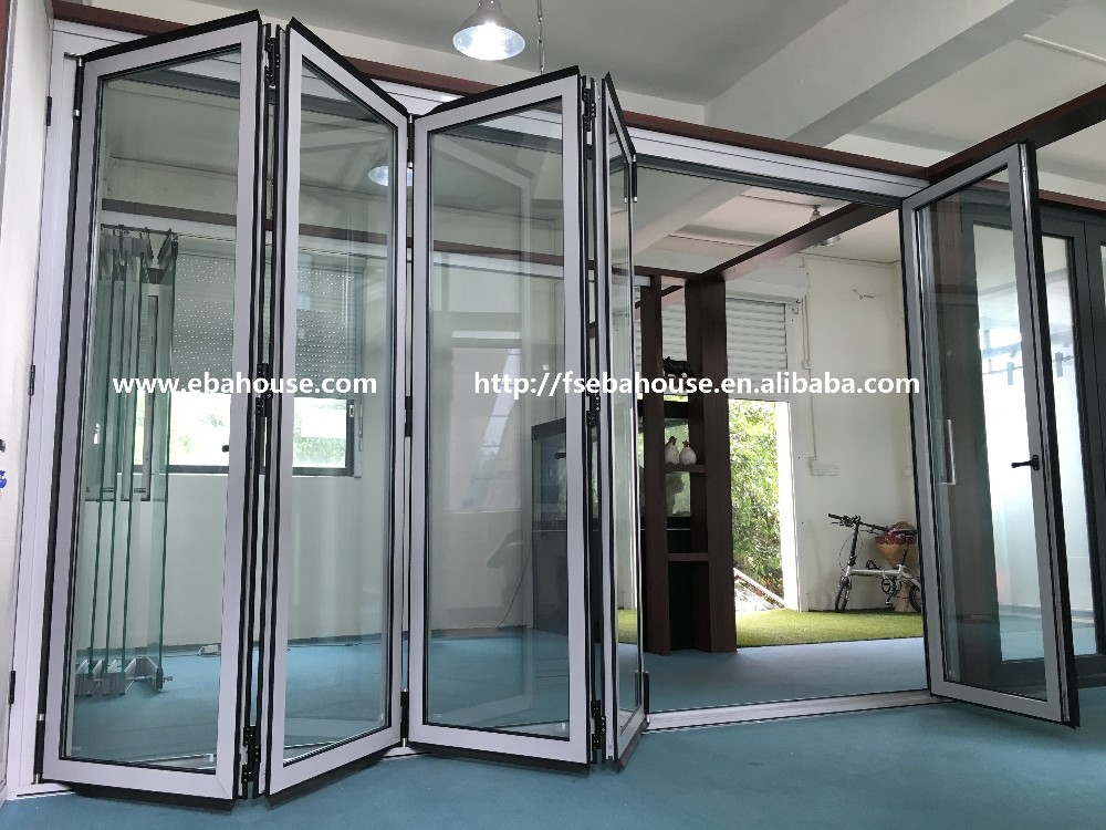Aluminium Commercial Glass Doors Aluminum Double Tempered