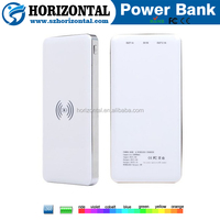 Wireless charging power bank 10000mah external battery qi wireless charger for iphone ,sample wireless power bank