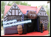 Customization!!!Event Decoration Tent/Party Pub/House Inflatable/8*5*4 W10303
