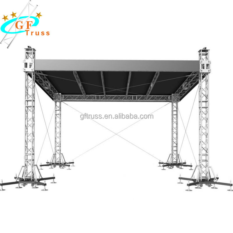 Aluminum Alloy 290mm*290mm Spigot <strong>Stage</strong> Truss Lighting Truss Design