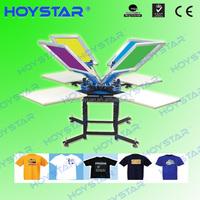 Manual 4 color 1 station silk screen printing press