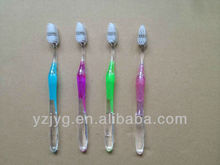 2013 tansparent handle toothbrush for adult