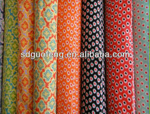 stretch poplin 40*40+40D 133*72 flower print cotton spandex fabric