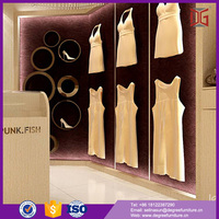 New Fresh Wooden Clothes Shop Counter Table Design