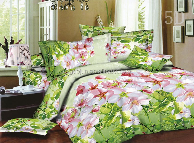 Canton fair 100%poly microfiber pigment/disperse printed bed sheets/mattress/quilt fabric for BRAZIL market south American