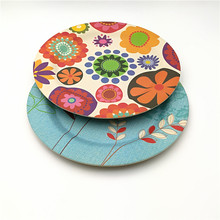 LFGB Approved Europe Market Bamboo Fiber Party Plate
