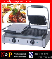 commercial electric panini grill sandwich maker/ press griddle panini contact grill