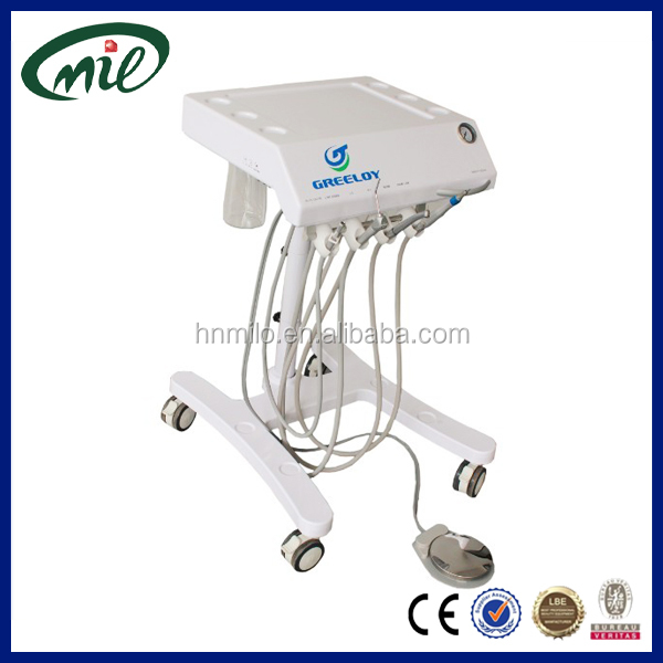 2 years warranty portable dental unit dental chair with Suction, handpieces, 3 way syringe