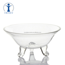 Wholesale Home Wedding Fashion Decoration China Factory Tableware Cheap Fancy Big Footed Glass 18cm Bowl