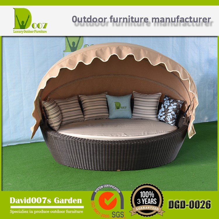 Hot Sale Top Quality Best Price Outdoor Sun Lounger Indoor Daybed Set DGD-0026