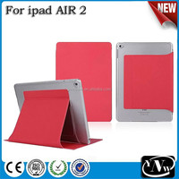 meles factory leather pu smart cover case for ipad air2