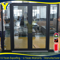 Australia standard AS2047 double glazed exterior steel french doors