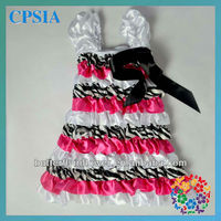 2014 wholesale latest party wear dresses toddler satin zebra princess party dresses for 3 year old girl
