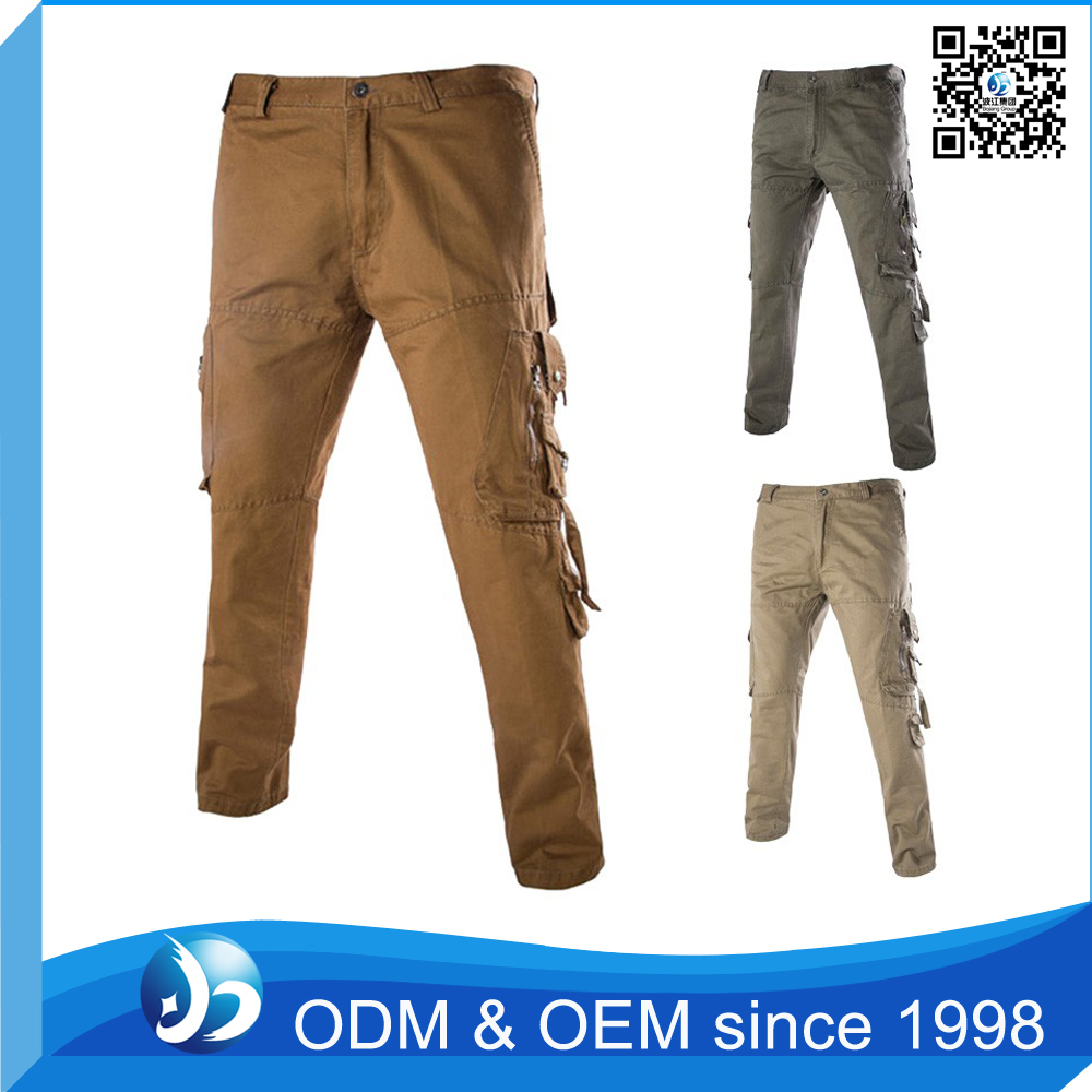 Custom Comfortable Cotton 6 Pocket Cargo Pants for Men