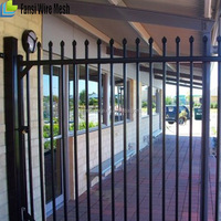 Designs for Residential Villa Decorative Prefabricated Tubular Steel Fence zinc-coated steel fence