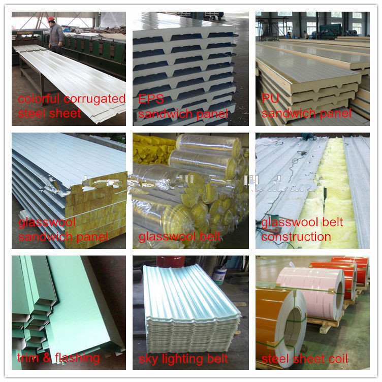 Light Prefabricated Steel Sudan Temporary Warehouse