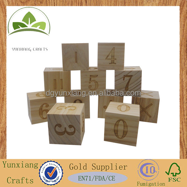 wooden number teaching block toy, wooden cubes for kids