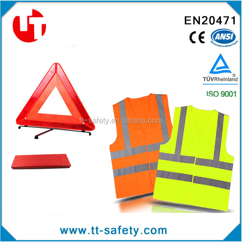 High Visibility Car Emergency Roadside Breakdown Accident Kit For First Aid Self Rescue