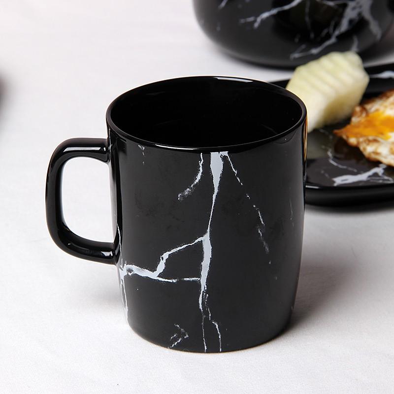 Natural marble design porcelain coffee tea mug cup for Natural stone coffee mugs