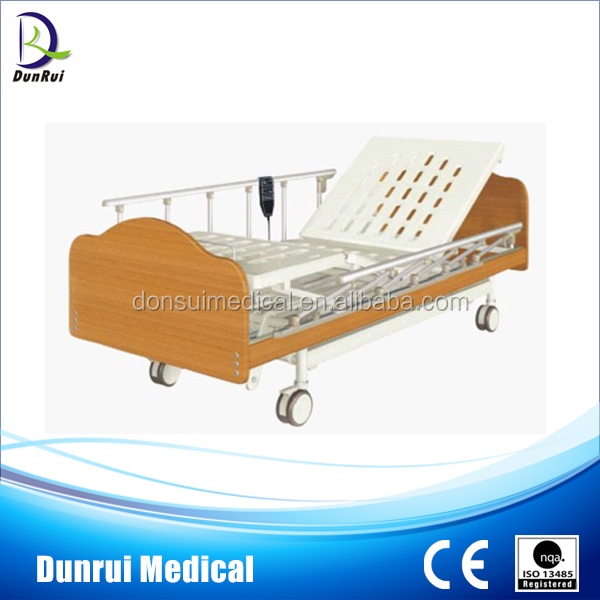 Two Functions Wooden Home Care Electric Nursing Home Beds
