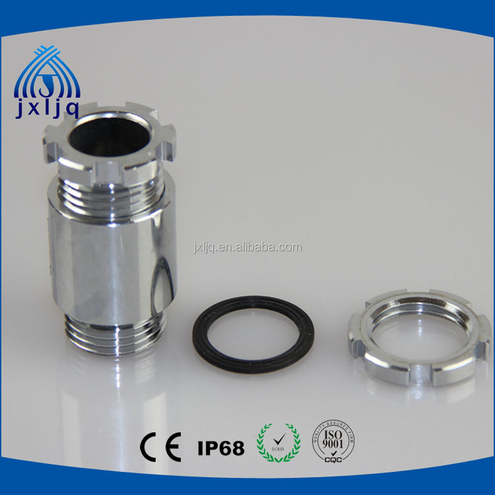 IP54 Marine cable gland use for board JIS type with lock nuts brass chromium plated material