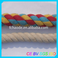 diamond braided or twisted cotton rope line cord