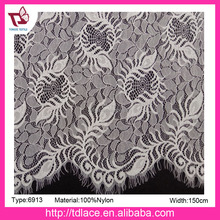 2017 fashion Italy nylon spandex lace fabric for dress, No.6913