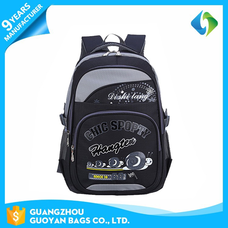 Latest trendy simple use custom made high school backpack kid
