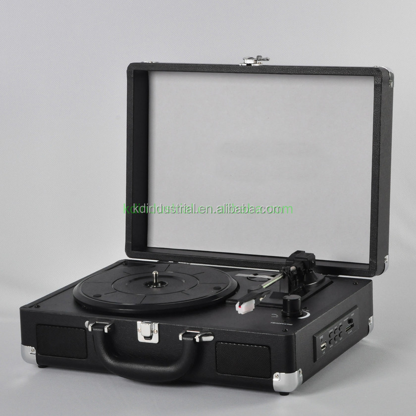 USB Bluetooth Vinyl Suitcase Style DJ Turntable Record Player