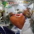 Attractive Parade Decoration Inflatable Flying Heart Clear Balloon Helium Model