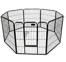 Factory direct wholesale square tube 36 inch dog outdoor playpen & kennels &dog pens for cheap sales