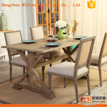 square wood restaurant 8 chair dining table set