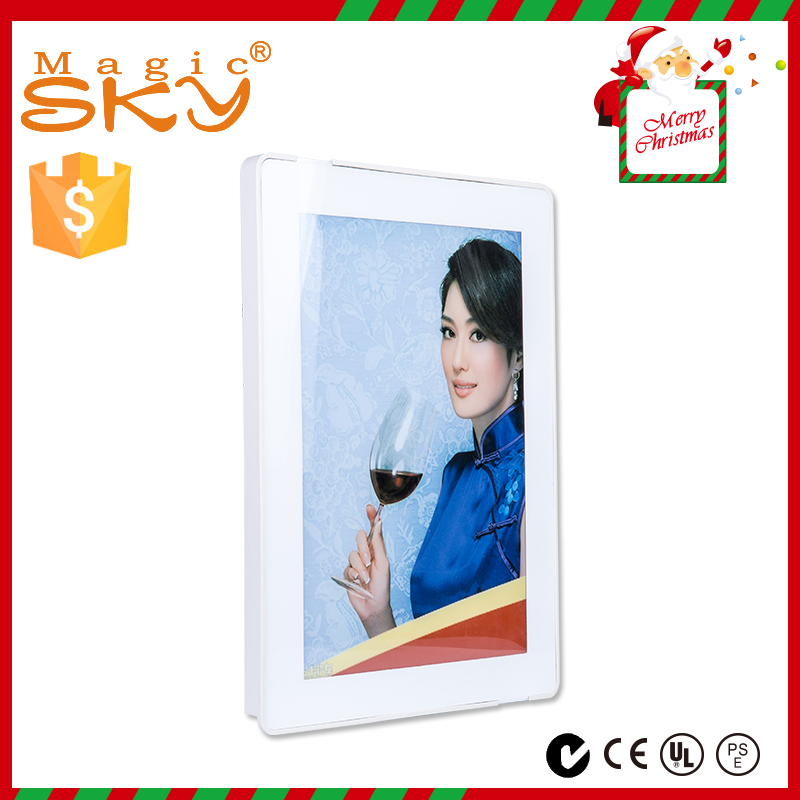 Wholesale led backlit magnet slim menu light box easy to change pictures