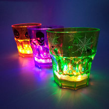LED Flashing Light Up Dice whiskey plastic Cup