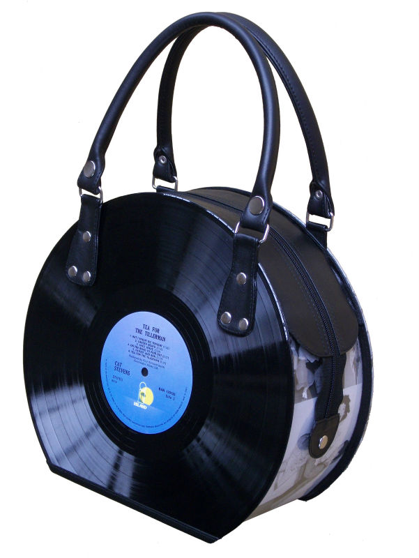 Vinyl Record handbag Recycled Reused LP Eco friendly upcycled
