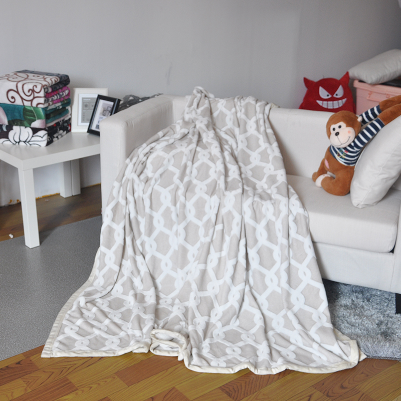 Jacquard Sherpa Bed Korean Blanket
