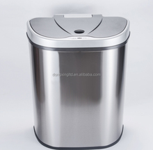 Large Stainless Steel Sensor Motion Touch Free Dual Recycle Trash Bin