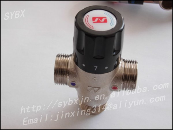 "Alibaba China Supplier Brass 3/4"" DN20S Solar Energy Thermostatic Mixing Valve"