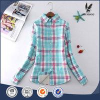 Denim long sleeve plaid women shirts wholesale ladies knitted long cardigan