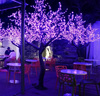 Romantic coffee shop decorating purple hot sale lighted up artificial cherry tree lights